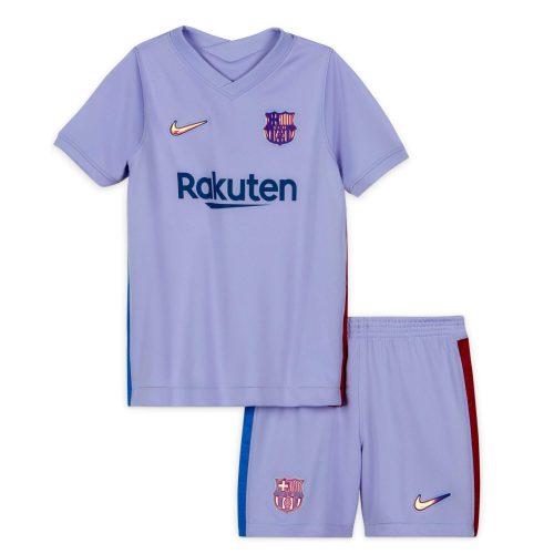 Barcelona Away Kids Football Kit 2122