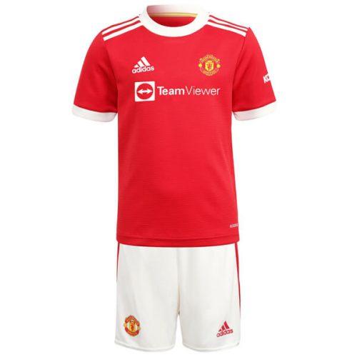 Manchester United Home Kids Football Kit 21 22