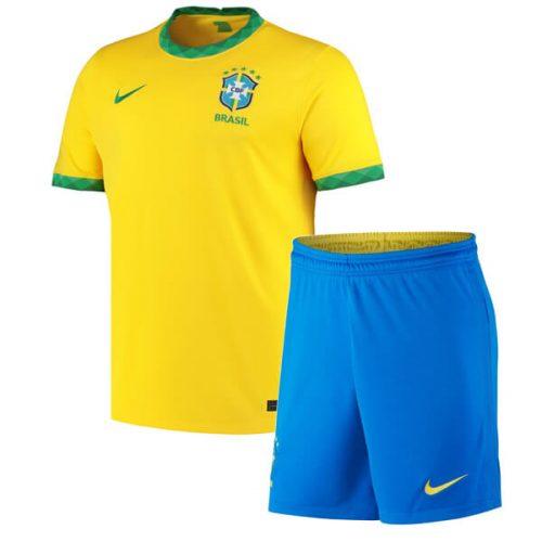 Brazil Home Kids Football Kit 2122