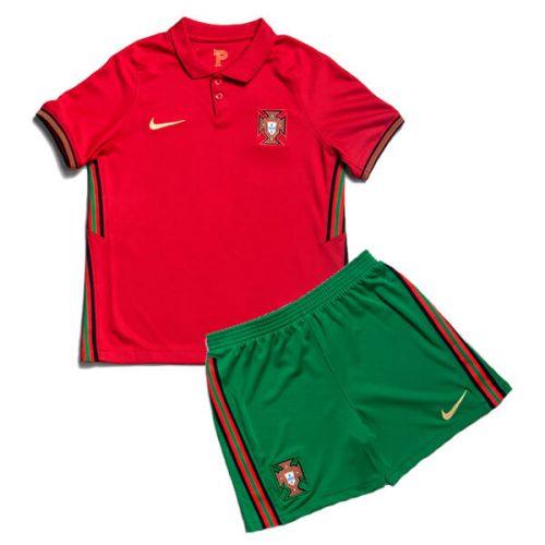 Portugal Home Kids Football Kit 20 21