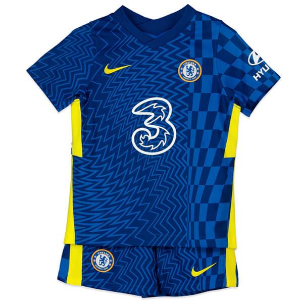 Chelsea Home Kids Football Kit 21 22