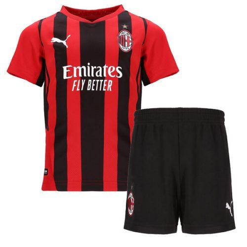 AC Milan Home Kids Football Kit 21 22