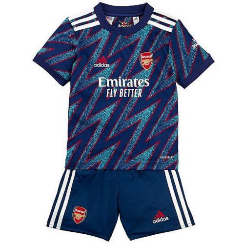 Arsenal Third Kids Football Kit 21 22