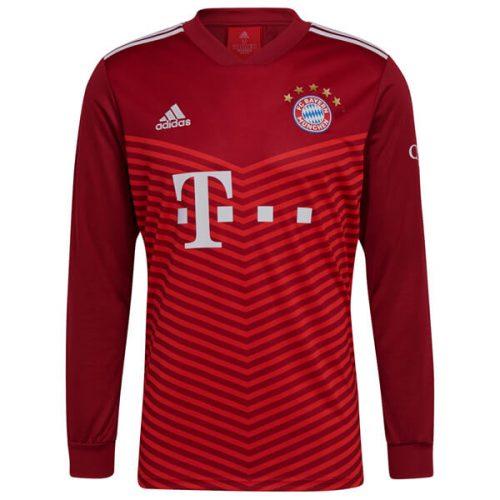 Bayern Munich Home Long Sleeve Football Shirt 2122