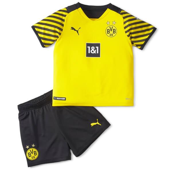 Borussia Dortmund Home Kids Football Kit 21 22