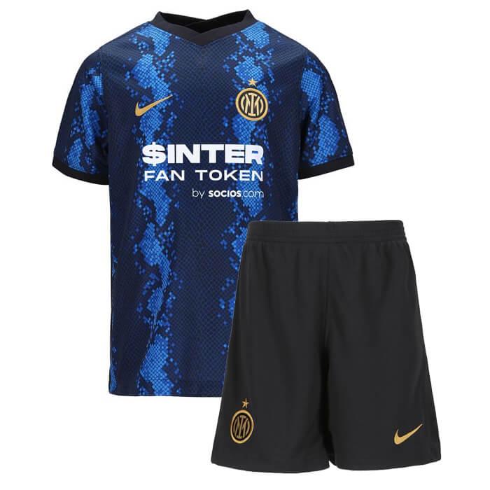 Inter Milan Home Kids Football Kit 21 22