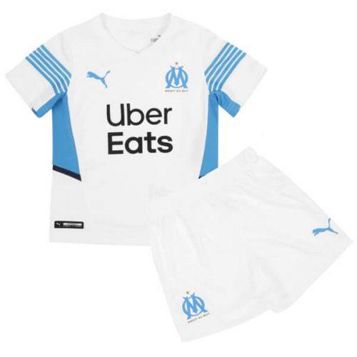 Olympique Marseille Home Kids Football Kit 21 22