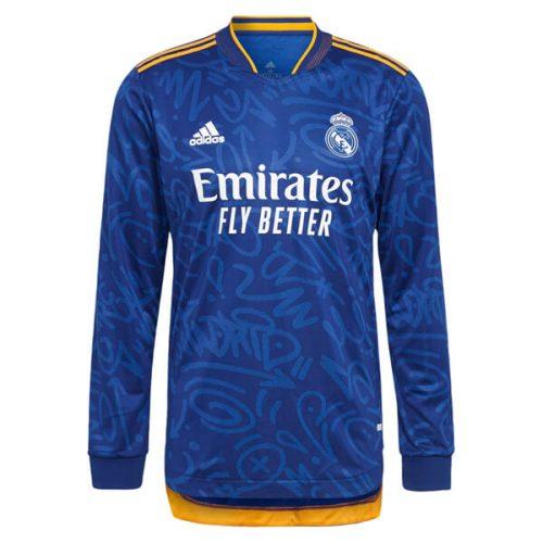 Real Madrid Away Long Sleeve Football Shirt 21 22