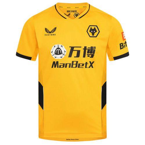 Wolverhampton Wanderers Home Football Shirt 21 22
