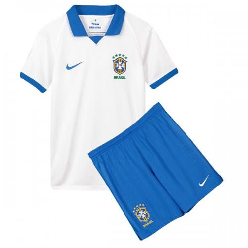 Brazil 100 Anniversary Away Kids Football Kit 2019