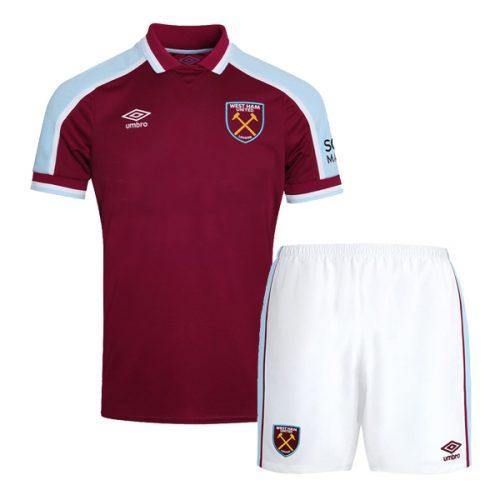 West Ham Home Kids Football Kit 2122
