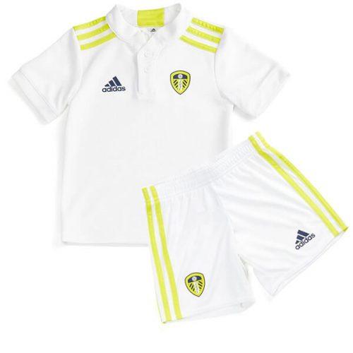 Leeds United Home Kids Football Kit 21 22