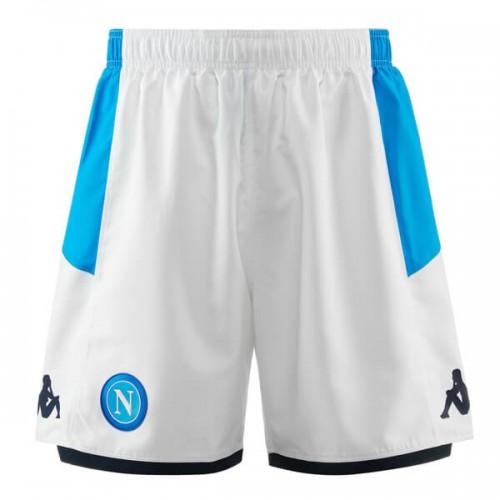 Napoli White Soccer Shorts 19 20