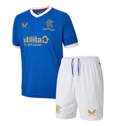 Rangers Home Kids Football Kit 2122