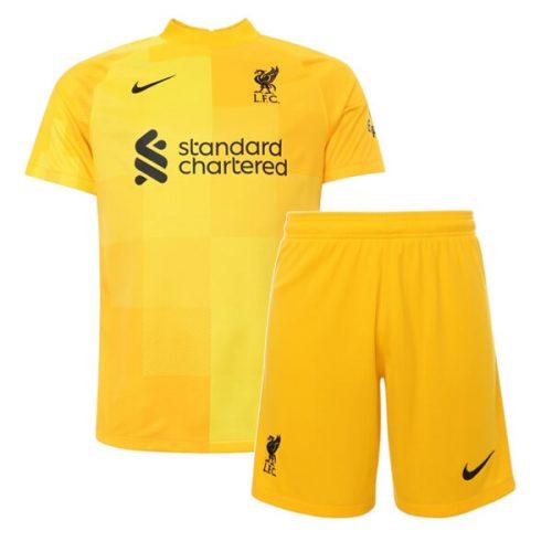 Liverpool Away Goalkeeper Kids Football Kit 21 22