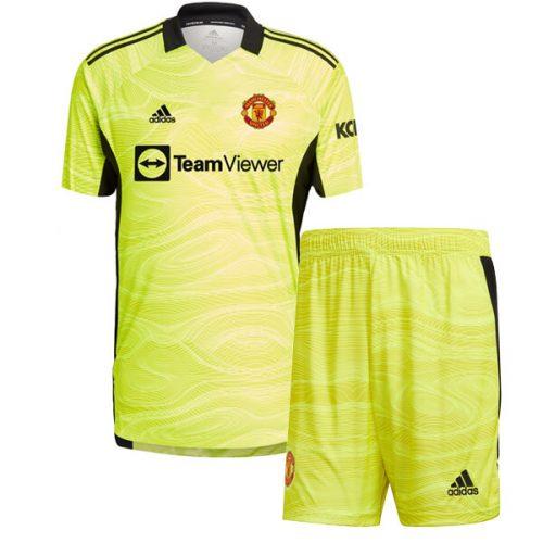 Manchester United Home Goalkeeper Kids Football Kit 2122