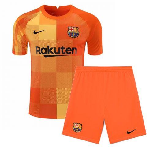 Barcelona Home Goalkeeper Kids Football Kit 21 22