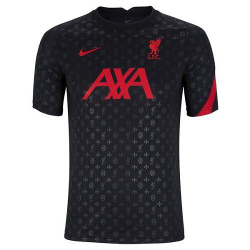Liverpool Pre Match Training Football Shirt - Black 20 21