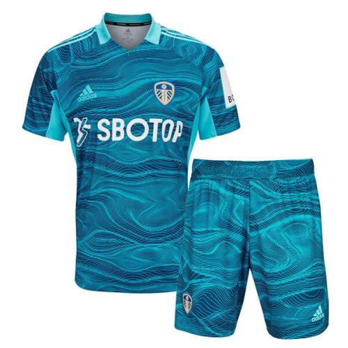 Leeds Home Goalkeeper Kids Football Kit 2122