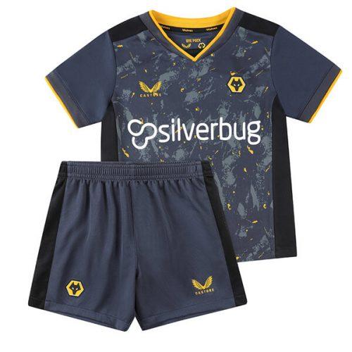 Wolverhampton Wanderers Away Kids Football Kit 21 22