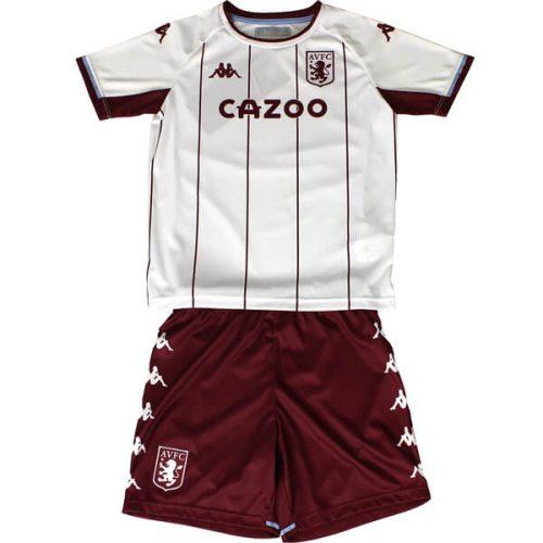 Aston Villa Away Kids Football Kit 21 22