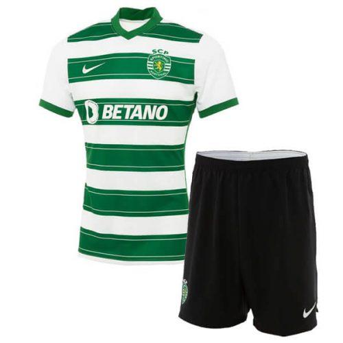 Sporting Lisbon Home Kids Football Kit 21 22