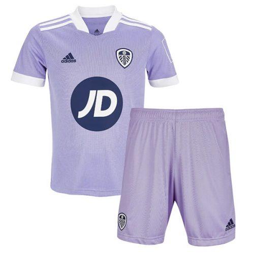 Leeds United Third JD Kids Football Kit 21 22