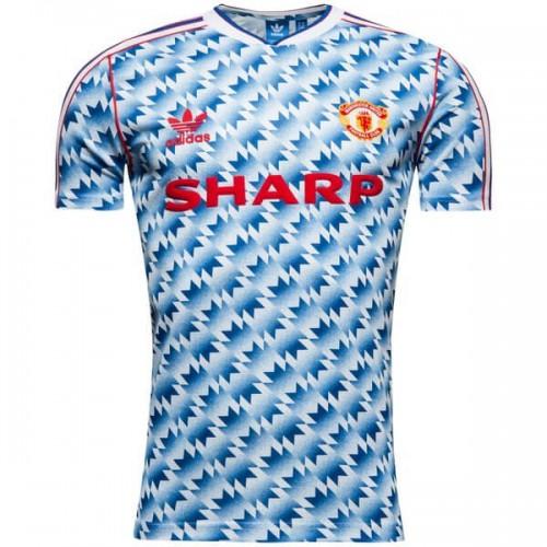 Retro Manchester United Away Football Shirt 90 92