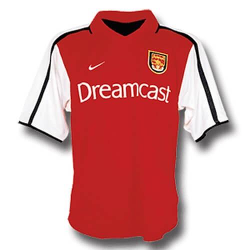 Retro Arsenal Home Football Shirt 00 01