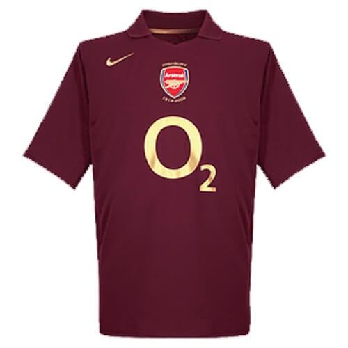 Retro Arsenal Home Football Shirt 05 06