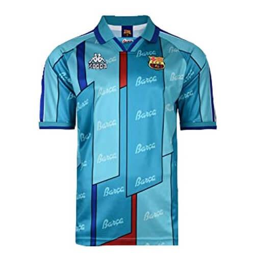Retro Barcelona Away Football Shirt 96 97