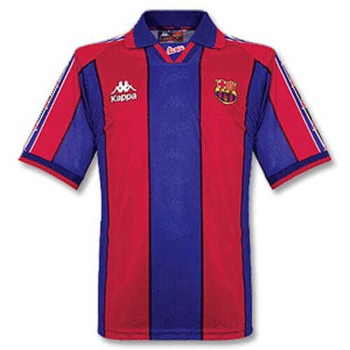 Retro Barcelona Home Football Shirt 96 97