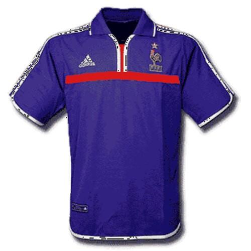 Retro France Home 2000 Football Shirt