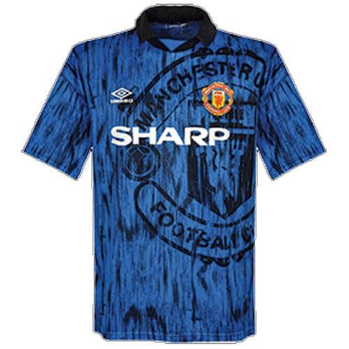 Retro Manchester United Away Football Shirt 92 93