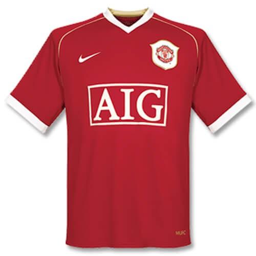 Retro Manchester United Home Football Shirt 06 07