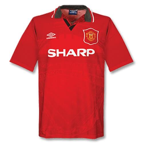 Retro Manchester United Home Football Shirt 94 96