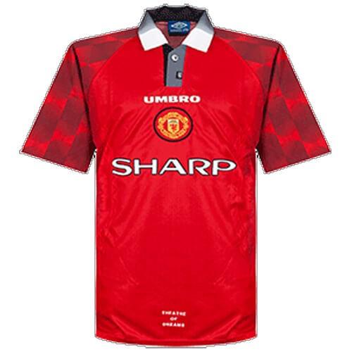 Retro Manchester United Home Football Shirt 96 97