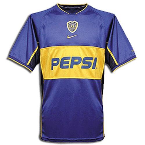 Retro Boca Juniors Home Football Shirt 02 03