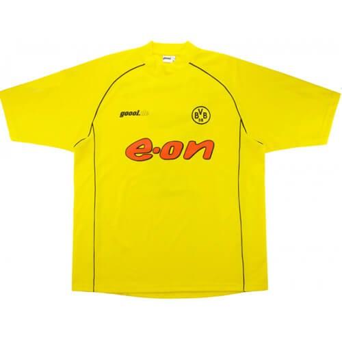 Retro Borussia Dortmund Home Football Shirt 2002