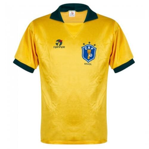 Retro Brazil Home Football Shirt 1988