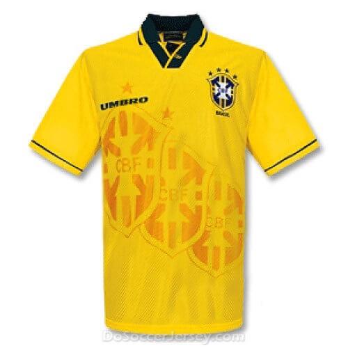 Retro Brazil Home Football Shirt 1994