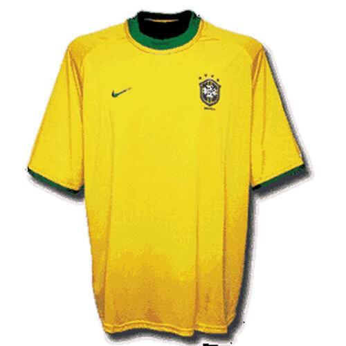 Retro Brazil Home Football Shirt 2000