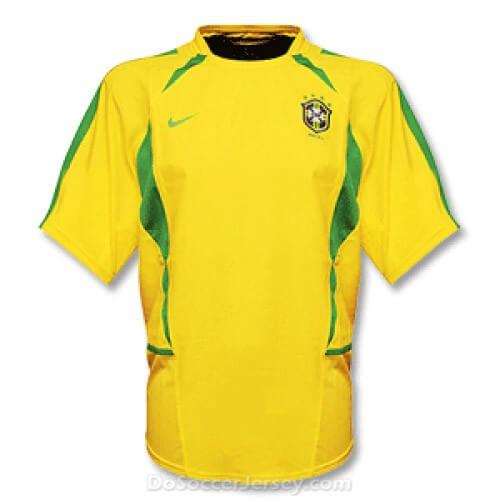 Retro Brazil Home Football Shirt 2002