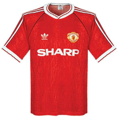 Retro Manchester United Home Football Shirt 90 92