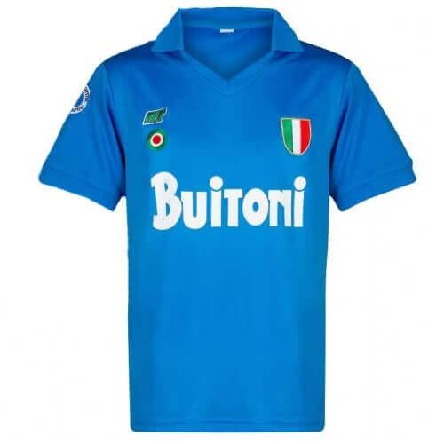 Retro Napoli Home Football Shirt 87 88