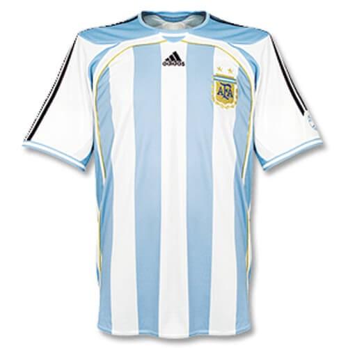 Retro Argentina Home Football Shirt 05 07
