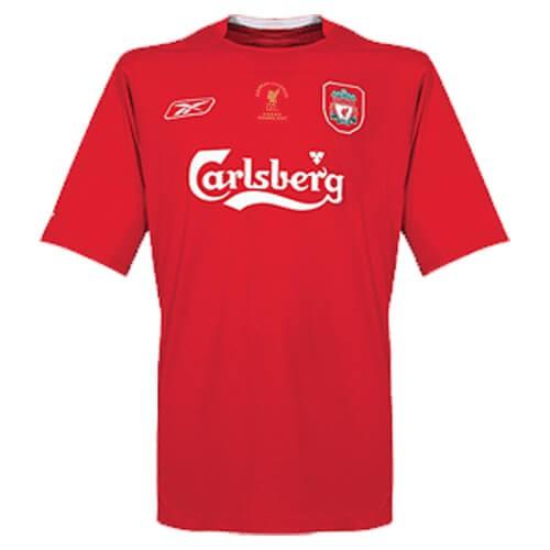 Retro Liverpool Home Football Shirt 04 05