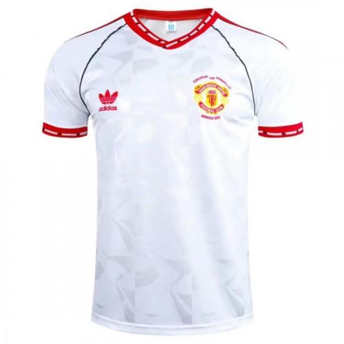 Retro Manchester United European Cup Winners Cup Football Shirt 1991
