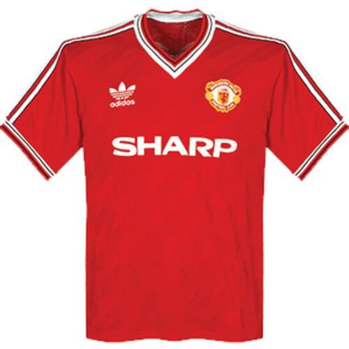 Retro Manchester United Home Football Shirt 1986