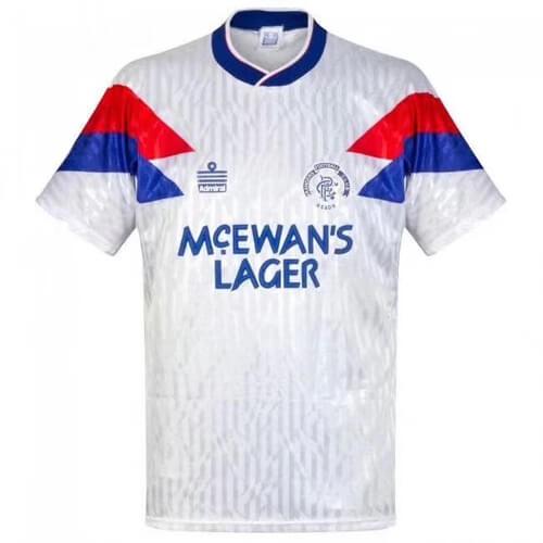 Retro Rangers Away Football Shirt 90 91